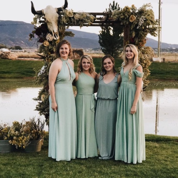01b7328c31 Dresses   Skirts - Sage Green Bridesmaid Dress